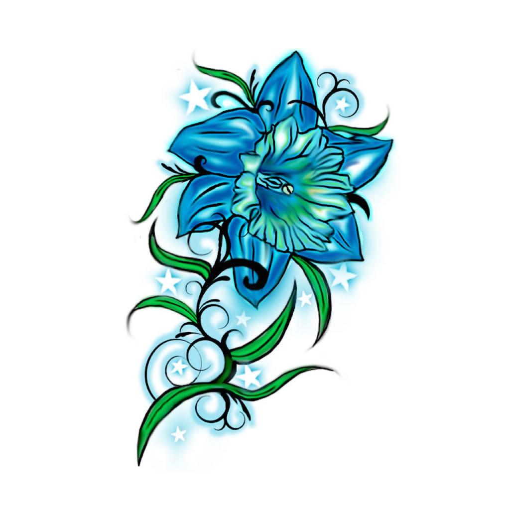 Красивая татуировка цветы